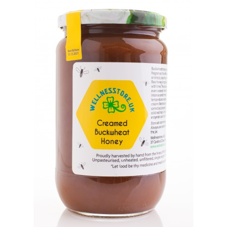 1kg Raw Creamed Buckwheat Honey